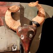 Testa di capra-sellino