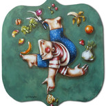 Il circo della frutta. Serie per Yankuam & Co Gastronomia, Torino.