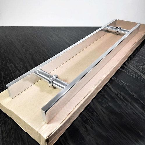 Puxador de 50cm em Alumínio H Barra Chata 1'' 1/4 c/ 35cm entre furos - Polido