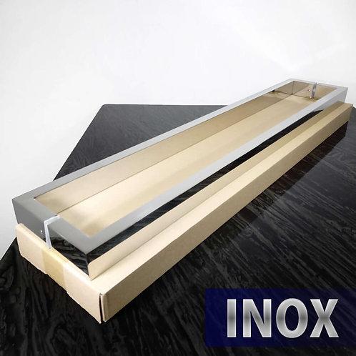 Puxador de 82cm INOX 304 Barra Retangular 40x20mm com 80cm entre furos - Polido