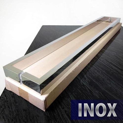 Puxador de 1,02mt INOX 304 Barra Retangular 40x20mm com 1mt entre furos - Polido
