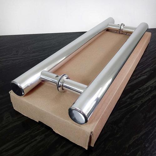 Puxador de 40cm em Alumínio H Tubular 29mm com 30cm entre furos