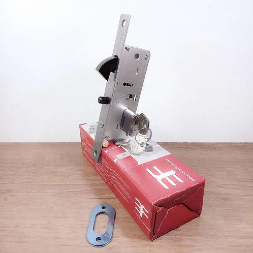 Fechadura Bico Papagaio para Porta de Correr 37mm Roseta Anelar INOX 629/50CR