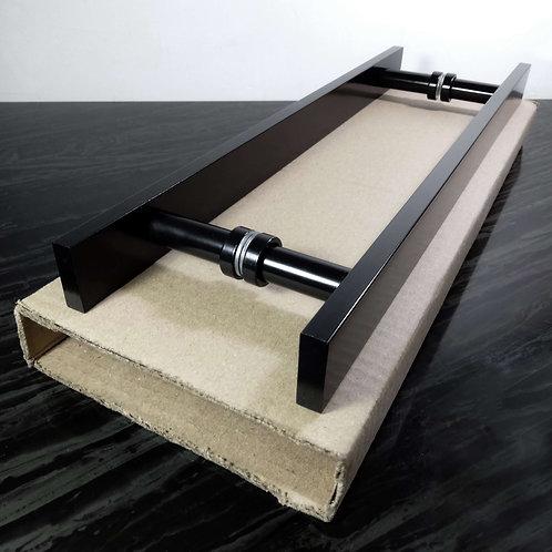 """Puxador de 40cm em Alumínio H Barra Chata 1"""" 1/4 com 30cm entre furos"""