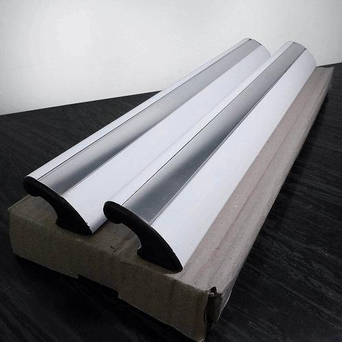 Puxador de 40cm por fixação - branco com acabamento polido + Silicone Acético