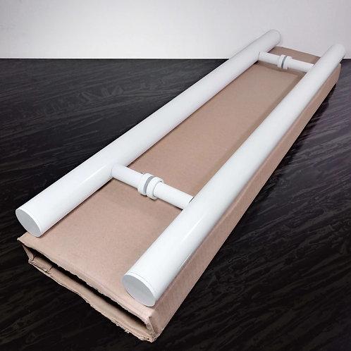 """Puxador de 60cm em Alumínio H Tubular 1"""" 1/4 com 40cm entre furos"""