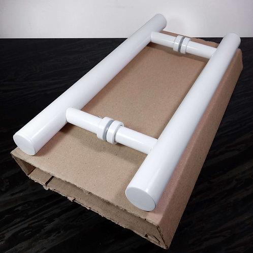 """Puxador de 30cm em Alumínio H Tubular 1"""" com 20cm entre furos"""