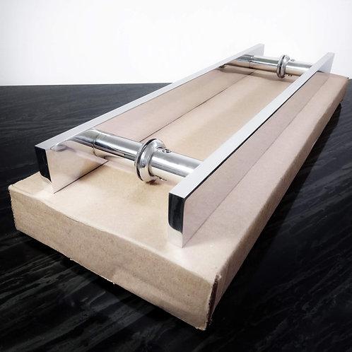 Puxador de 40cm em Alumínio H Barra Chata 1'' 1/4 com 30cm entre furos