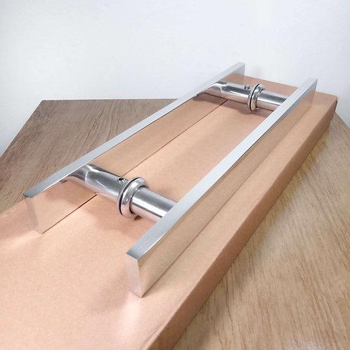 Puxador de 30cm em Alumínio H Barra Chata 32mm com 20cm entre furos
