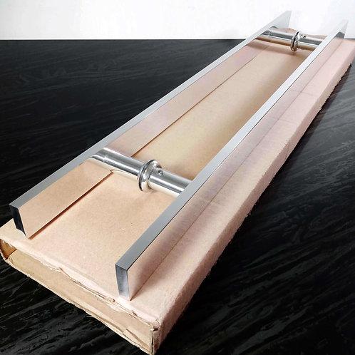 Puxador de 60cm em Alumínio H Barra Chata 1'' 1/4  com 40cm entre furos