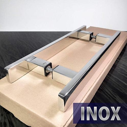 Puxador de 30cm INOX 304 Barra Chata 30x10mm com 20cm entre furos - Polido