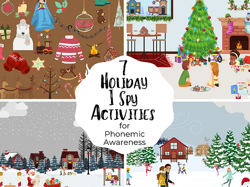 Holiday I Spy for Phonemic Awareness