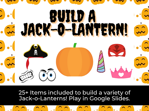 Build a Jack-o-Lantern Mini Game