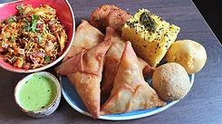Lily's Deli Vegetarian Samosas and Dhokla