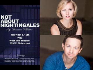 """Congratulations! Lindsey Kelly and Gabe Templin in Tennessee Williams' """"Not About Nightinga"""