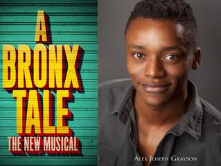 """Congratulations! Alex Grayson in Broadway's """"A Bronx Tale""""!"""