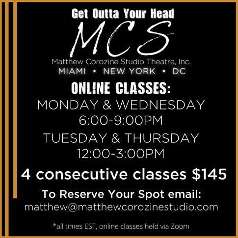 ONLINE CLASS SCHEDULE as of MAY '21