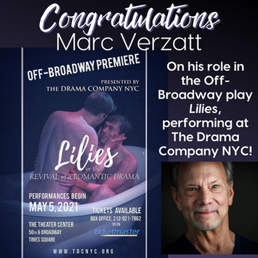 Marc Verzatt performs in the off-broadway play, 'Lilies'.
