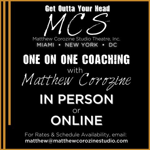 One on One Coaching with Matthew Corozine