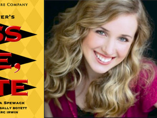 """Congratulations! Jennie Bissell in """"Kiss Me, Kate""""!"""