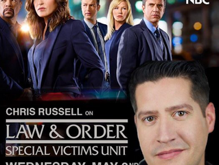 """Congratulations! Chris Russell on """"Law & Order: SVU""""!"""