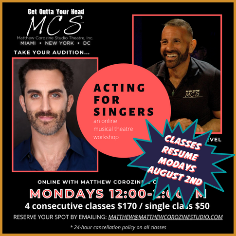 Acting for Singers with Matthew Corozine & Cooper Grodin