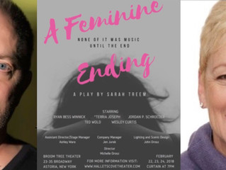 "Congratulations to Terria Joseph and Ted Wold in ""A Feminine Ending"", directed by Michelle"
