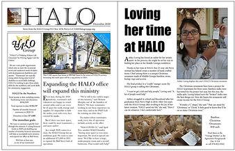 HALO December 2020 newsletter thumbnail.