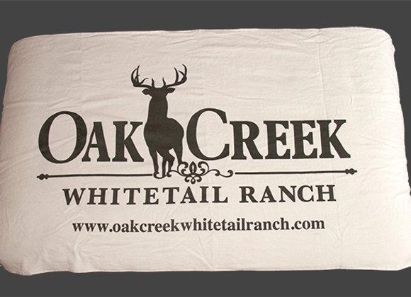 Oak Creek Beach Towel Long Logo