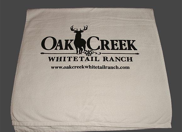 Oak Creek Beach Towel Wide Logo