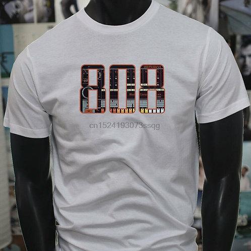 MUSIC PRODUCER 808 BLACK BASS SAMPLER SUBWOOFER Mens White T-Shirt