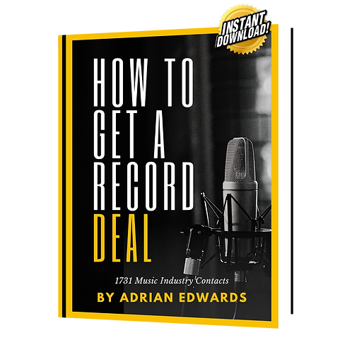 How To Get A Record Deal - A&R Guide (*includes over 1700 contacts)
