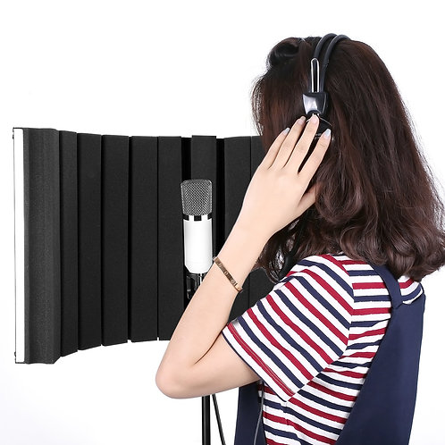 Reflection Filter Sound Cage for recording microphone (w/ mounting brackets)