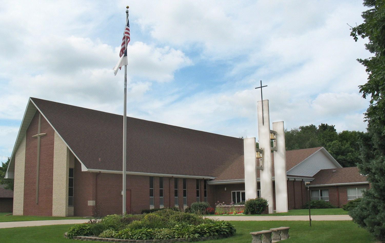 Photoshopped exterior of church