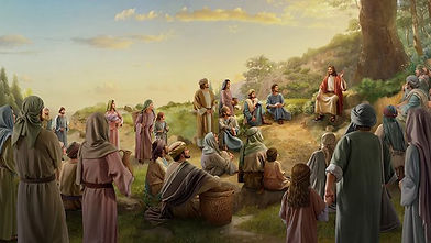 Jesus teaching on hillside.jpg