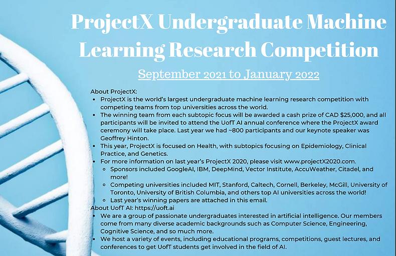 ProjectX Undergraduate Machine Learning