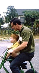 2.36a David and Dad in front of apartmen