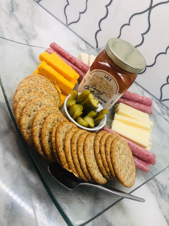 Wonderful cheese board