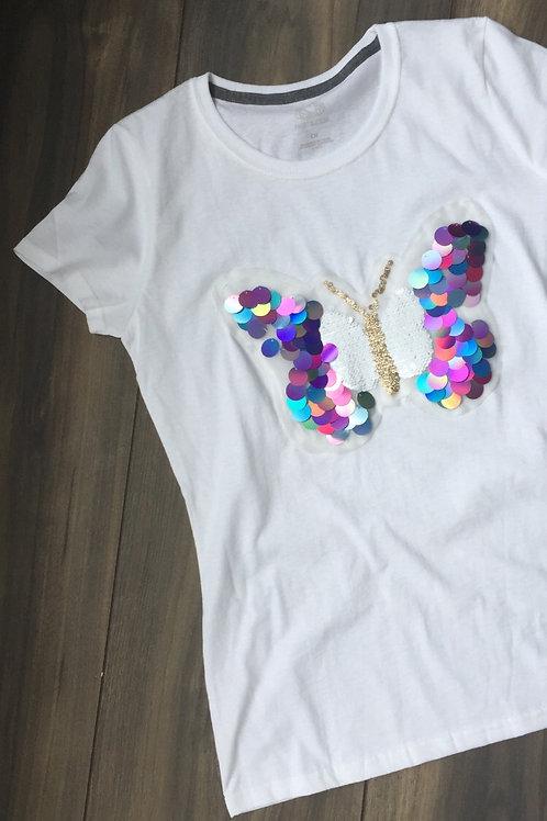 Playera mariposa