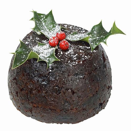 Pudding et sa compotée de fruits de saison