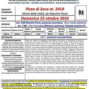 Pizzo di Sevo - m.2419