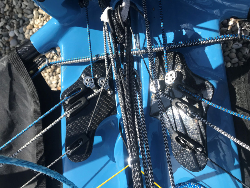 International moth rigging, new carbon plates
