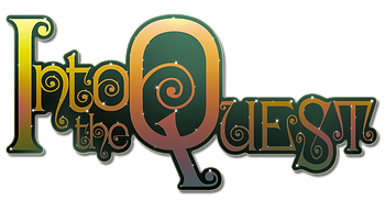 "The official logo of ""Into the Quest!"", our upcoming fantasy range"