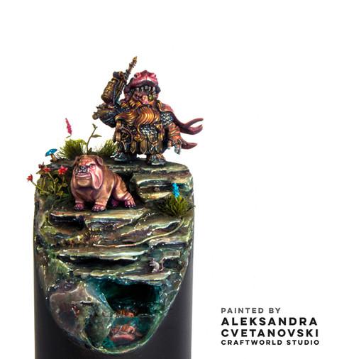 Hunter of Erdraz and Hunting Bulldog by Aleksandra Cvetanovski