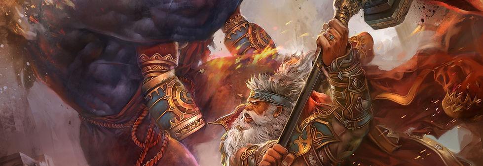 The Siege of Ishi. The Goiko hero, Denbe, fights an Ikari of Fire!