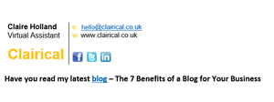 Why not add your new blog post to your email signature