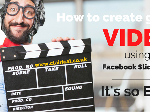 How to Create Great Video using Facebook Slideshow - It's so EASY!