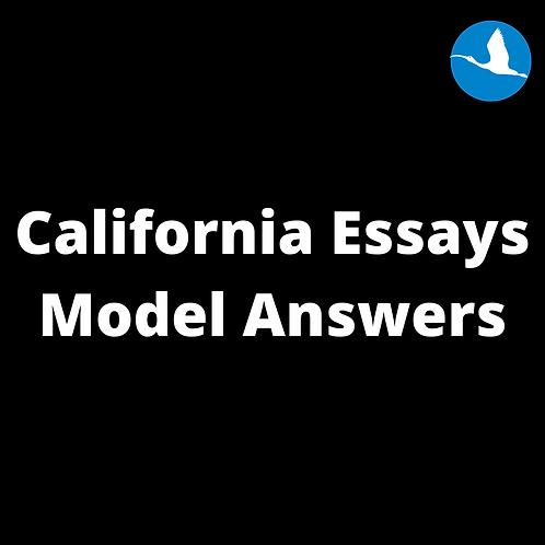 California Essays Model Answers