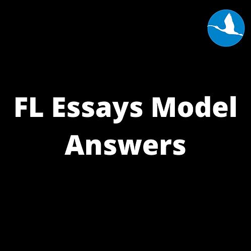 FL Essays Model Answers