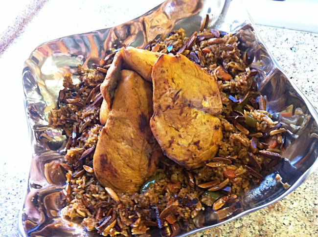 ARABIC SPICED RICE WITH CHICKEN (KABSEH)